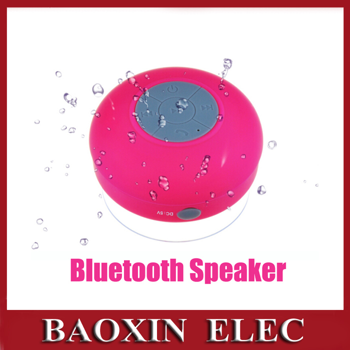 Wireless Portable Bluetooth Speaker Shower Car Handsfree Receive Call With Suction Cup Mic Waterproof Outdoor Speakers(China (Mainland))