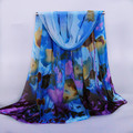 2015 hot brand women peones chiffon georgette silk women s scarves spring autumn summer sun modern