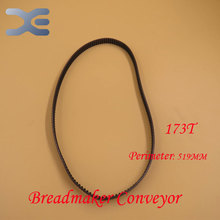 Free Shipping 5Per Lot Kitchen Appliance Parts Breadmaker Conveyor Belts 173T Perimeter 519mm Bread Transmission Belt (China (Mainland))