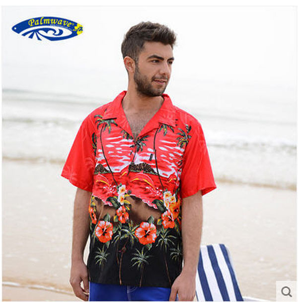 Camisa Masculino 2015 Men Famous Brand Hawaiian Beach Shirt Man Short-Sleeved Casual Printing Plus Size Cotton Tops J59 - yue clothes store