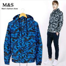 MANSHOW 2015 Fall Winter Clothes for Men. Mens Casual Jacket Slim Fitness Camouflage Hooded Coat Jackets Plus Size M-XXXL