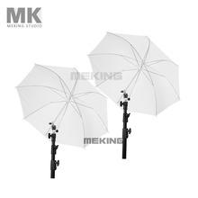 2pcs Photo studio lighting Umbrella 84cm/33″ Translucent Umbrellas 2in1 kit photography fotografia paraguas