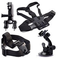 Bicycle Handlebar Head Strap Chest Strap Suction Cup for GOPRO HERO 4 3 3 2 1