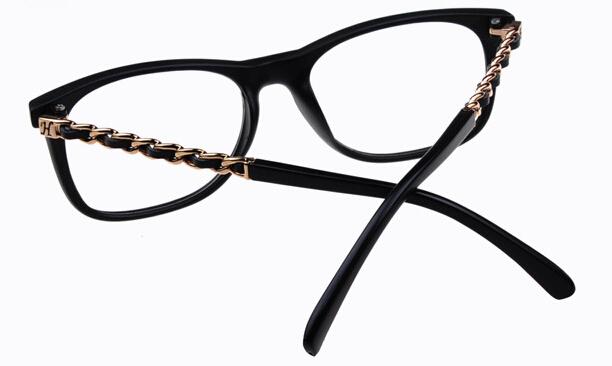stylish glass frames eymn  Brand designer Chain eyeglasses frame women stylish square frames  Spectacles lady elegant decoration eye wear