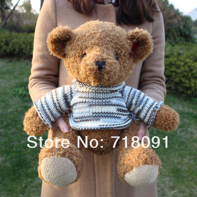 30CM,1PC,2 Colors,Brand Plush Stuffed Toy Bear With Woolly for Children Promotion Gifts,Drop Free Shipping