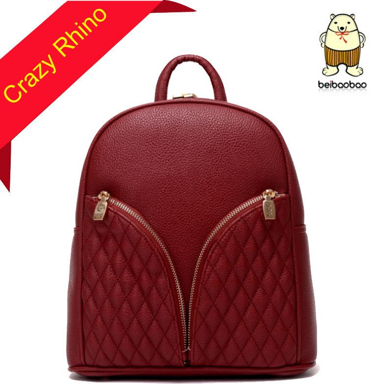 2015 Women Backpacks Leather Shoulder School Bags Teenagers Girls Laptop Backpack Waterproof Travel Bagpack - Crazy Rhino store