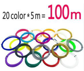 3D ручка Нити ABS/PLA пластик 1.75 мм Многие colores 10/20 Colores (10 М/цвет, 5 М/цвет) идеально подходит Для 3D Печать Ручка 3D Принтер