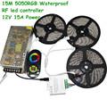 20M 15M 10M DC12V 60led m SMD 5050 RGB Flexible Led Light Waterproof LED Strip RF