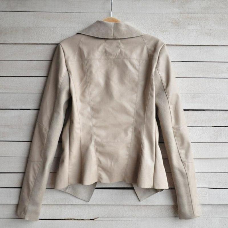 Женская сексуальность искусственная кожа куртка про-байкер мотоцикл perfecto молния овчины тонкий слой тонкий лучших большой размер осень зима верхней одежды