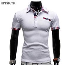 Mens Polo Shirt Brands 2016 Мужской С Коротким Рукавом Мода Повседневная Тонкий Ложным Карман Вышивка Поло Мужчины Майки(China (Mainland))