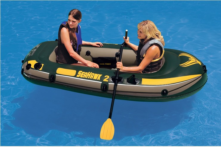 Intex Seahawk 2 person fishing boat inflatable kayak inflatable boat 236*114*41cm, a pair of oars, hand pump included(China (Mainland))