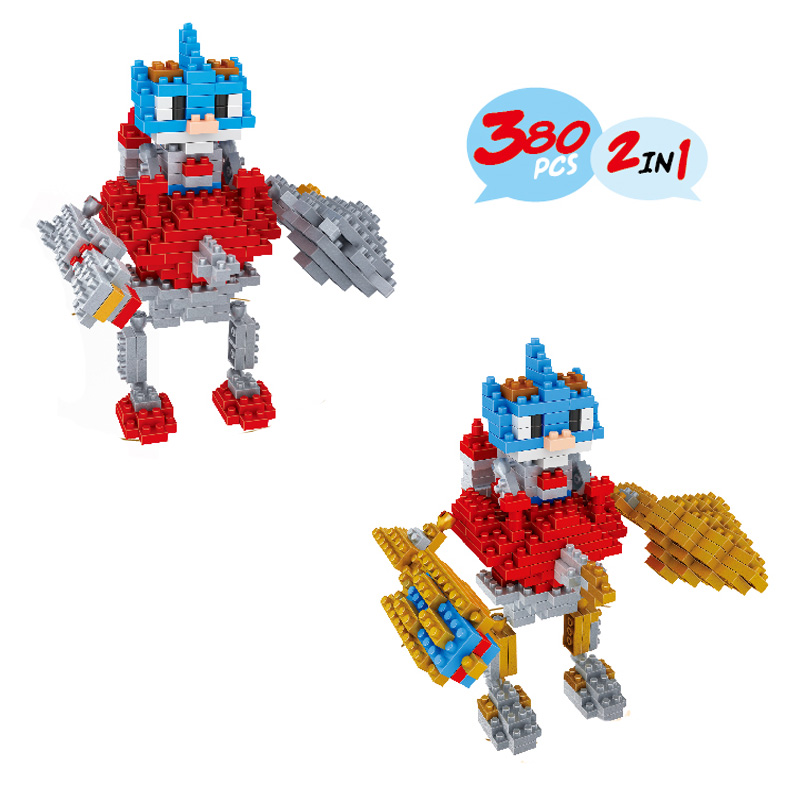 LOL Rumble Diamond Building Blocks Cartoon Game Characters Gift Present For Children and Adult Mini Assembled Bricks 2 In 1(China (Mainland))