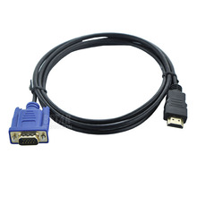 Hight quality 6FT 1.8M HDMI To VGA Cable male to male Video Adapter For HDTV PC Laptop HDMI Kabel Cabo adapter