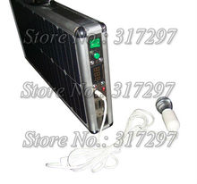 Free Shipping 20W Portable Solar Generator Ultra Thin Briefcase Design LED Lighting Music System AC Charger