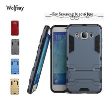 Buy Samsung galaxy J5 2016 Case J510 J510F Phone Cover Robot Armor Kickstand Hybrid Rubber Hard Back Case Samsung J5 2016 < for $2.67 in AliExpress store