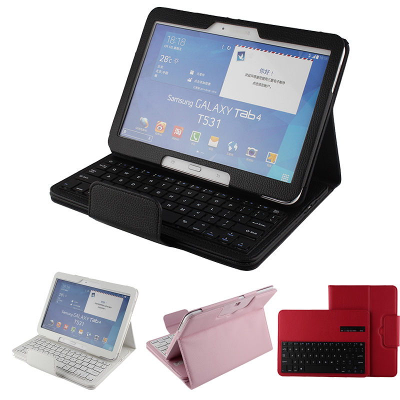 Removable Bluetooth Leather Keyboard Case Samsung Galaxy Tab 4 T530 10.1 tablet  -  Shenzhen Hikit Technology Co., Ltd. store