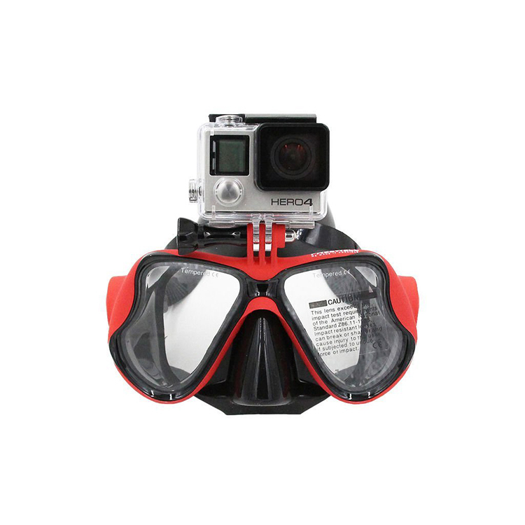Action camera Diving Mask w/Mount Compatible with Xiaomi Yi ,Gopro Hero 1, 2, 3, 3+,4 SJ cams,Scuba Dive Swimming Mask free ship(China (Mainland))