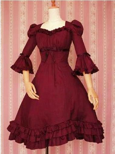 Gothic  Ruffleds  Cotton Lolita DressОдежда и ак�е��уары<br><br><br>Aliexpress