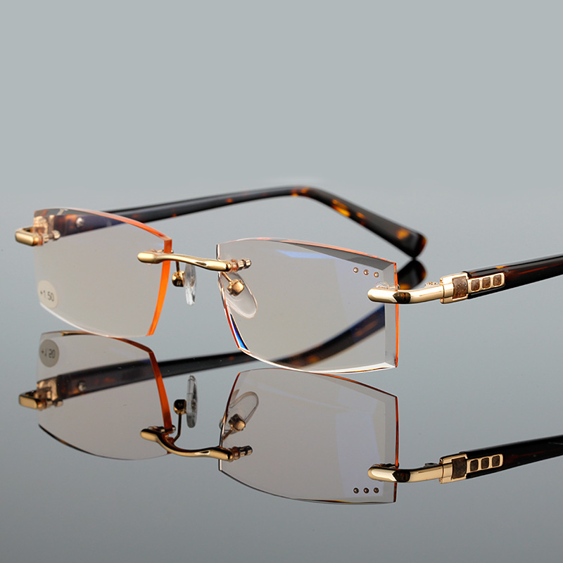 High Quality Fashion Rimless Reading Glasses Men Women ...