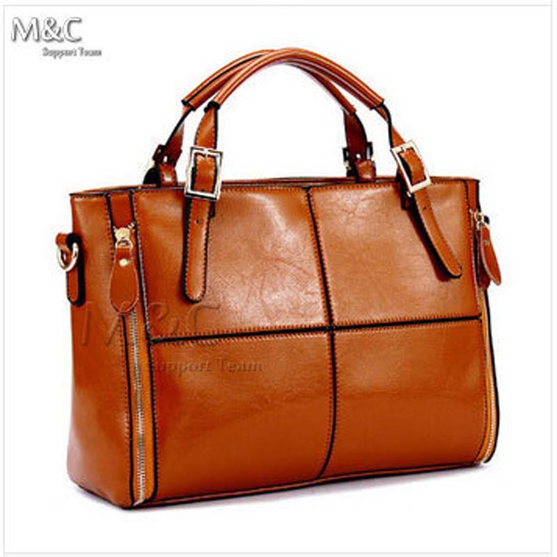 Women Leather Bags for Women Shoulder Bags bolsas femininas women messenger bags Dual Zippers Cowhide Patchwork Handbag SD-072(China (Mainland))