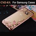 Rhinestones Soft TPU Plating Cases For Samsung Galaxy A3 A5 2016 Case A7 Galaxy J5 J1