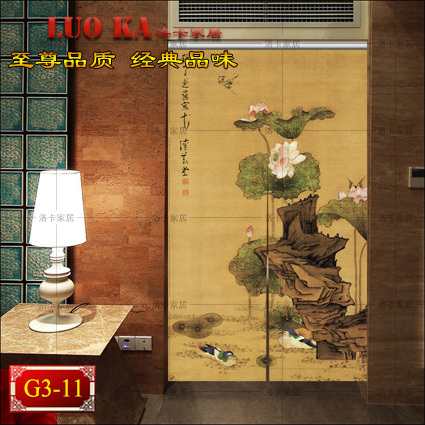 Painted patterns finished painting bedroom living room painted half shutter blackout curtains custom insulation Chinese<br><br>Aliexpress