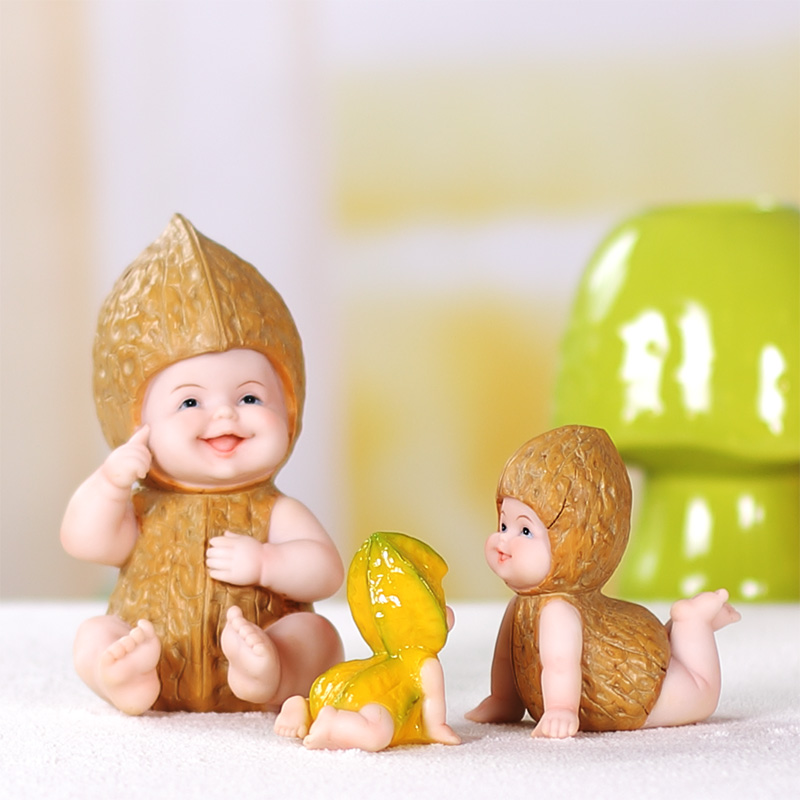 DIY Harz obst puppe figur baby outdoor statue/Miniatur fee garten ...