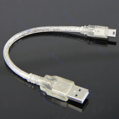 "B86""Short USB2.0 Extension Cable A Male to Mini 5-pin B Male USB Adapter Cable(China (Mainland))"