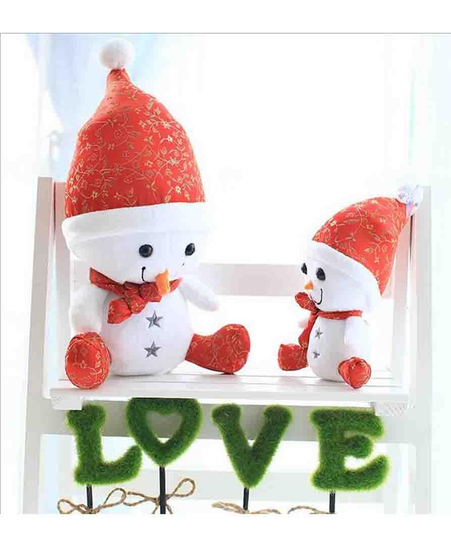 Best ever plush snowman Creative cartoon Christmas snowman plush toy(China (Mainland))