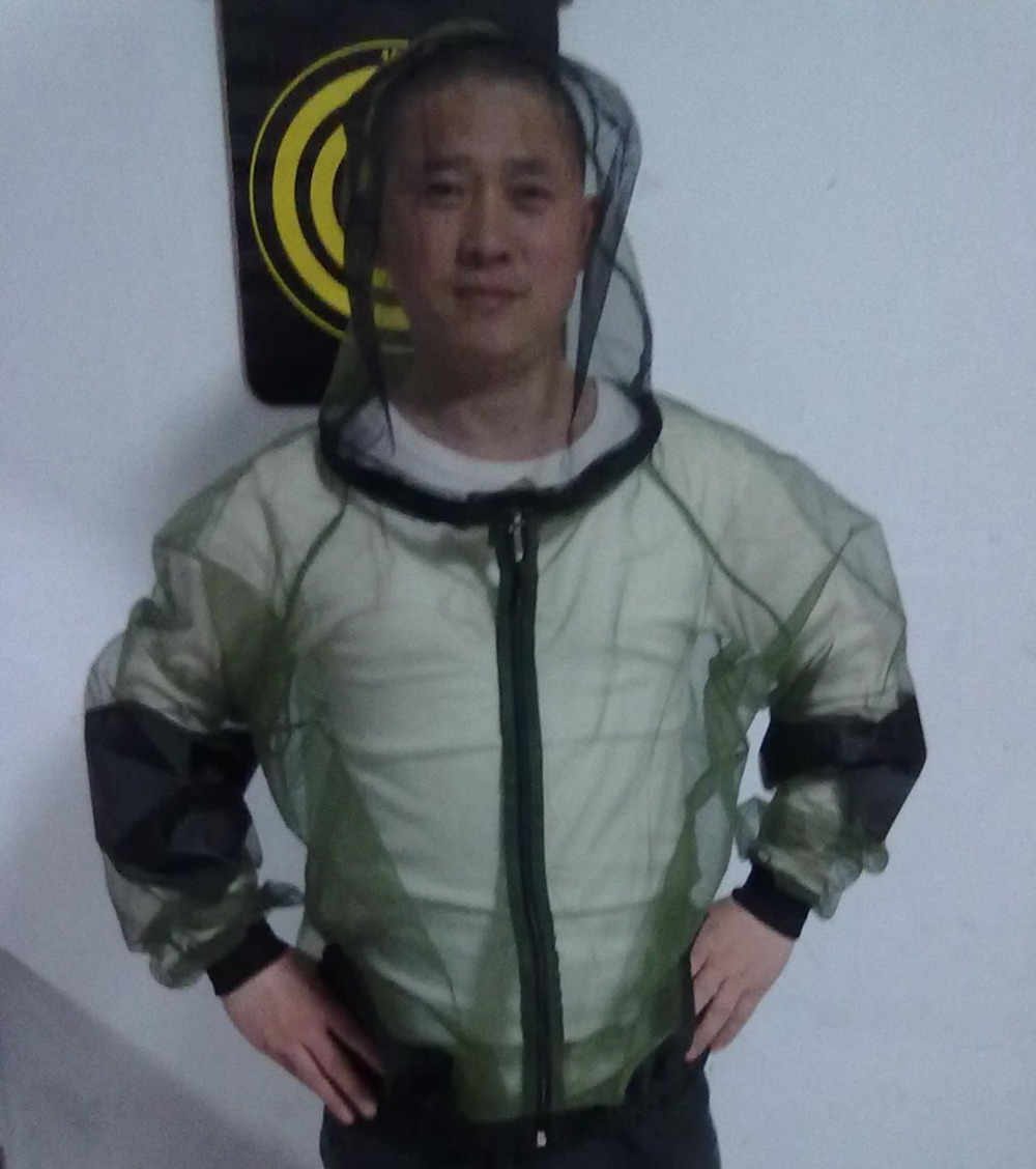 Free Shipping Fishing Outdoor Cloth Mosquito Prevent Top,Camping Clothing Outdoor Mosquito Prevent Top(China (Mainland))