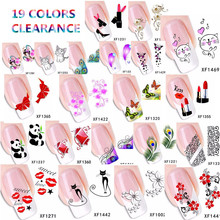 Clearance 2016 Brand Fantasy Stickers for Nails Art Design Stickers Gel Polish Women Nail Sticker Decorations Decals DIY Beauty