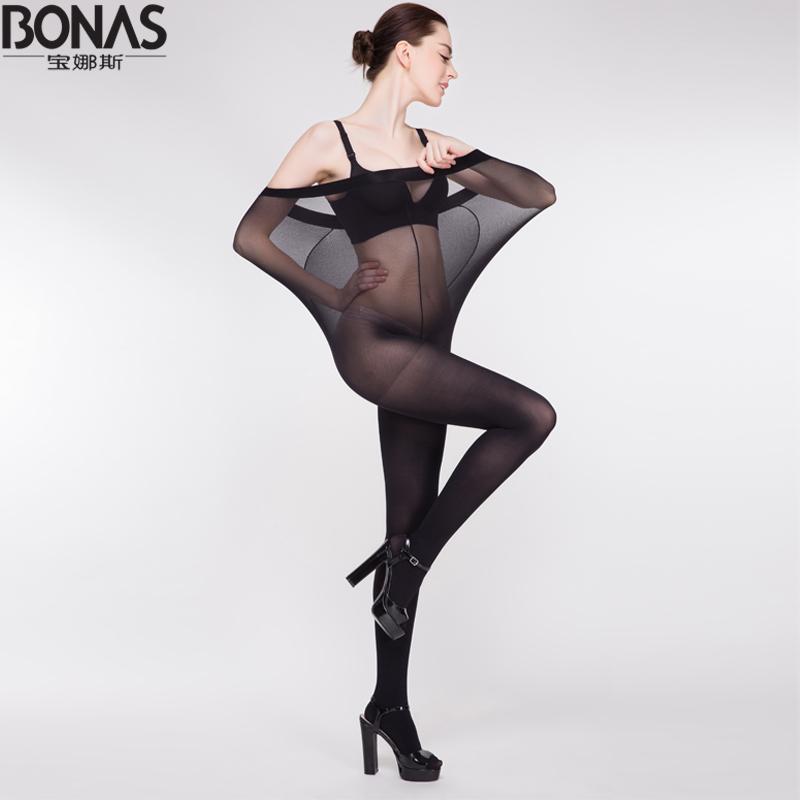 12D Brand BONAS High Quality Sexy Pantyhose Spring Summer Thin Transparent Tights Female Plus Size Seamless Stockings Hosiery(China (Mainland))