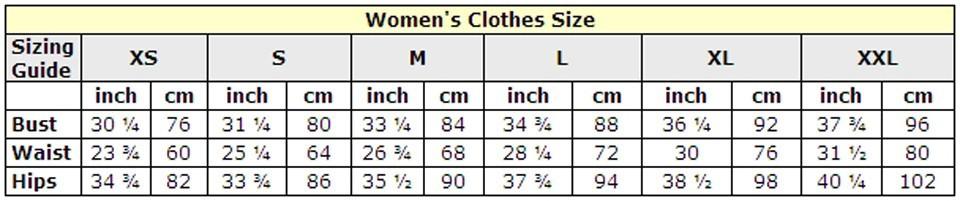 Таблица размеров женской одежды на алиэкспресс на русском платья