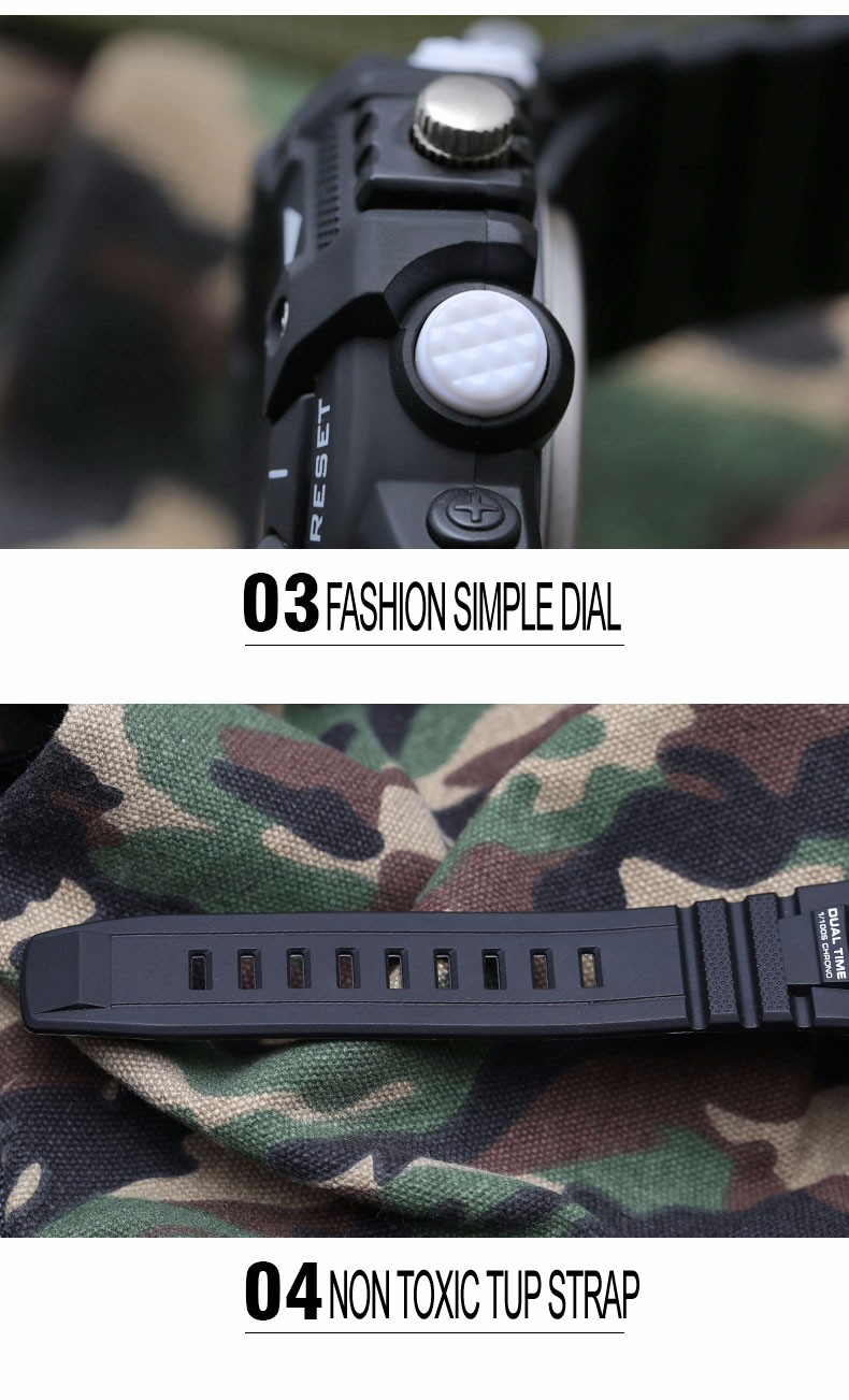 2016 Смотреть Мужчины S Шок Открытый СВЕТОДИОДНЫЕ Часы G Спортивные Часы Кварцевые Час Цифровые Часы Военные 50 м Водонепроницаемый Силиконовый наручные часы
