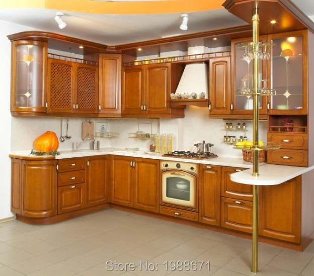 Good quality american wholesale solid wooden kitchen for Cheap wood kitchen cabinets