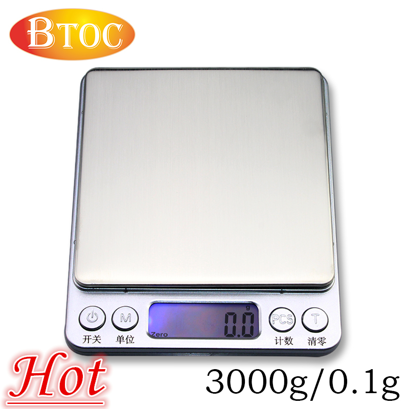 Mini pocket portable precision jewelry scale electronic scale grams, said gold jewelry scales kitchen scale 3000g/0.1g(China (Mainland))
