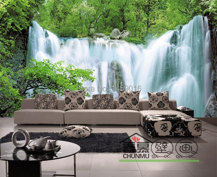 Sala de estar de cama crian a quarto tv defini o for Papel de pared paisajes
