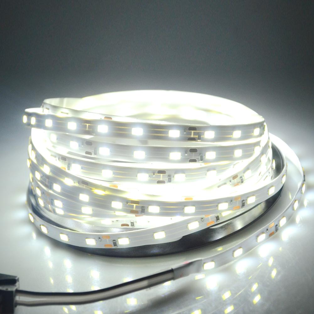 DC12V led strip light 5630 5730SMD 5M 60led/M flexible Fita string Ribbon Led tape Bar Neon light indoor decoartion Warm/White()