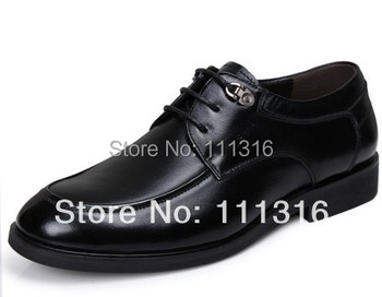 2015 brand new fashion men's Genuine Leather shoes black brown business shoes Oxfords flats shoes for men SIZE EUR 38-44 JT040