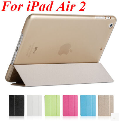 2014New fashion Smart cover ipad air 2 case original ultra slim flip leather stand apple iPad 6 Air2 cases - ELink Tech Factory store