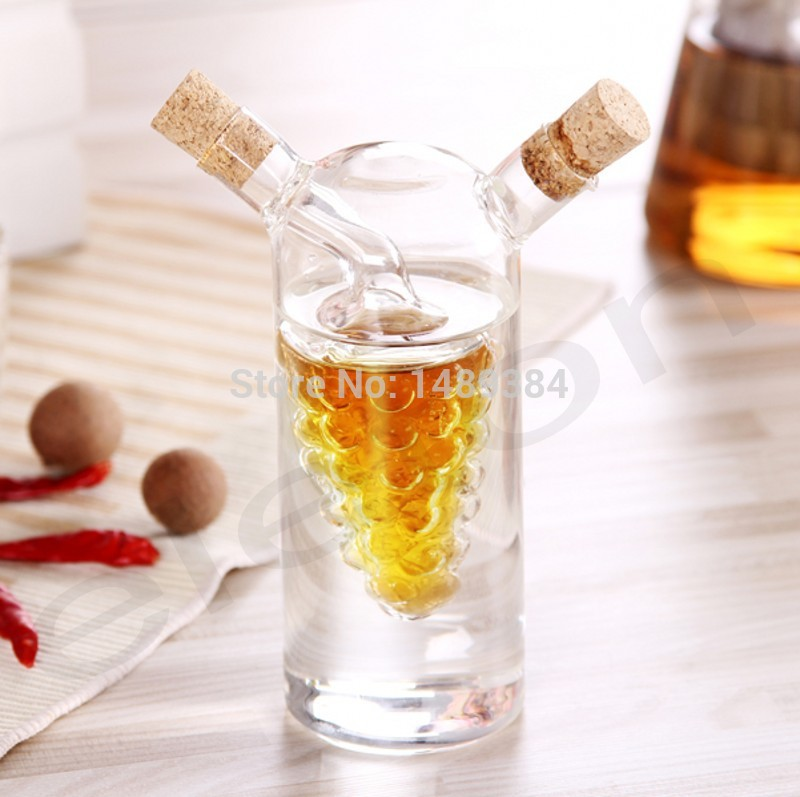 Hot Wholesale Kitchen Supplies Oil And Vinegar Bottle Oiler Soy Sauce And Vinegar Cruet Glass