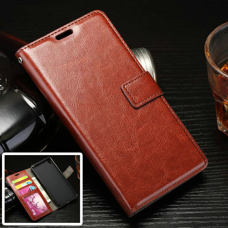Luxury Retro Leather Flip Cover Stand Case Coque Sony Xperia E5 Wallet Pouch Card Slots Capa Para - WinTop E-Tech Co.,Ltd Store store