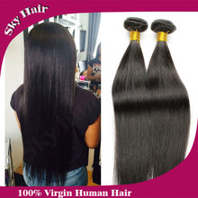 brazilian straight virgin hair 4pcs lot 8-32inch 100g bundles 100% human hair sky human hair  brazilian virgin hair straight(China (Mainland))