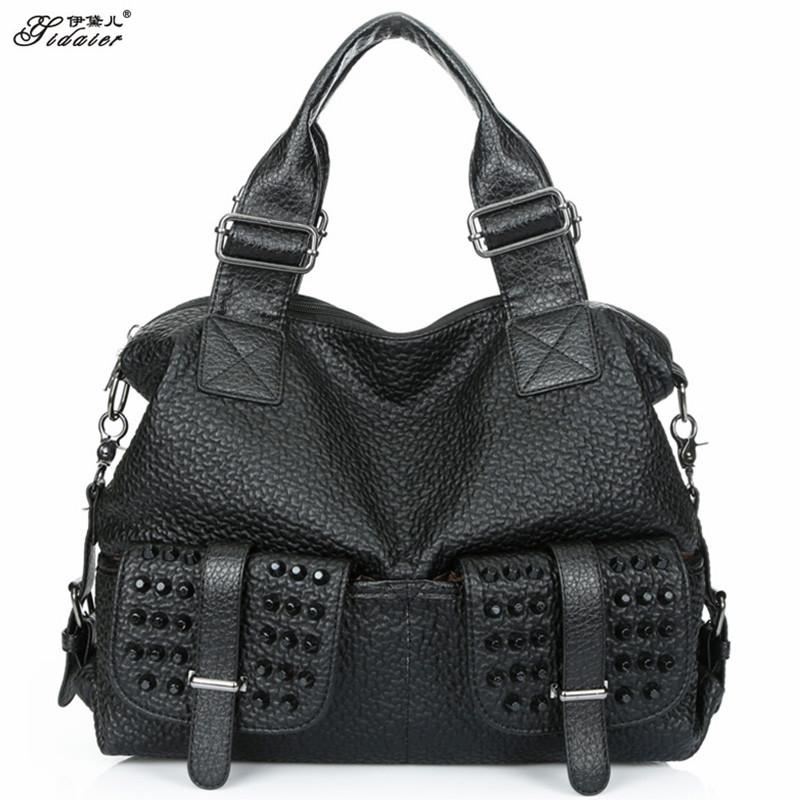Famous Designer Bags New Fashion PU Leather Women Shoulder Bag Big High Quality Ladies Handbags 2015 Solid Zipper Large Tote Bag<br><br>Aliexpress