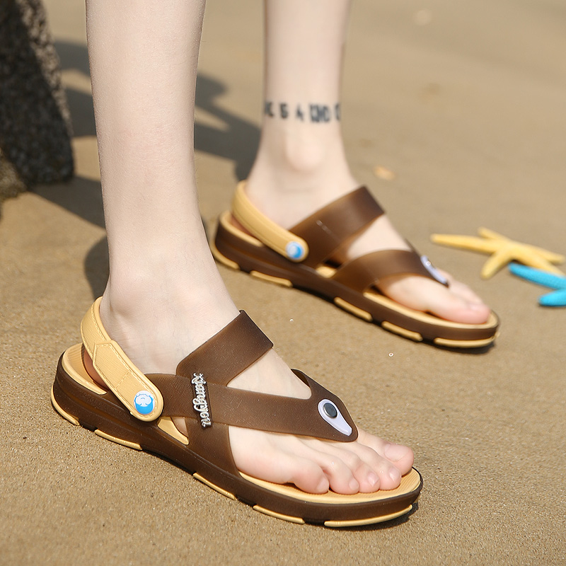 2017 Famous Brand Designer Plaid Stripes Men Sport Sandals Slippers Summer  comfort Men Outdoor male Beach Shoes Flip flops - us20 890ee8b98714