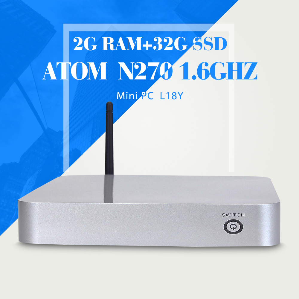 XCY Thin Client N270 N450 2G RAM 32G SSD With wifi Cheap Mini Pc Smallest Computer Thin Client Office Networking(China (Mainland))
