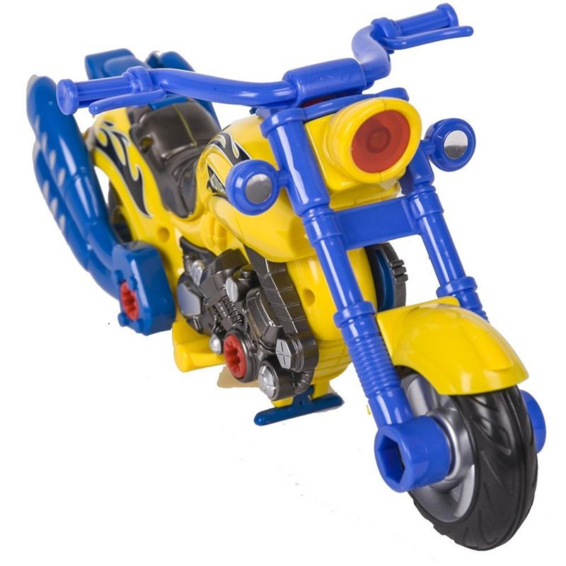 Motorcycle Toys For Boys : Kids assembly toy motorcycle playset with electric