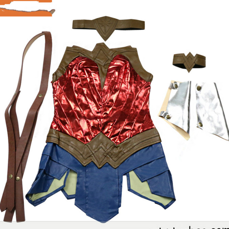 2017 Batman Superman v: Justice of the Dawn of the Wonder Woman Clothing Sexy Costume Cosplay Adult Skirt Set Belt and Headdress