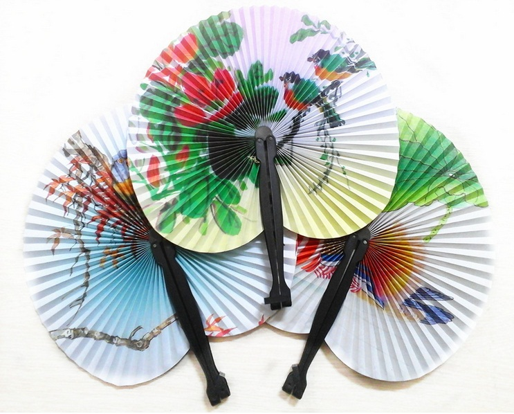Hot Sale Paper Hand Fan Folding Wedding Party Supplies Colorful Wedding Decoration(China (Mainland))