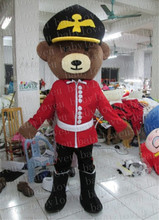 bear Soldier mascot costume halloween costumes party costume dinosaurs fancy dress christmas kids gift surprise